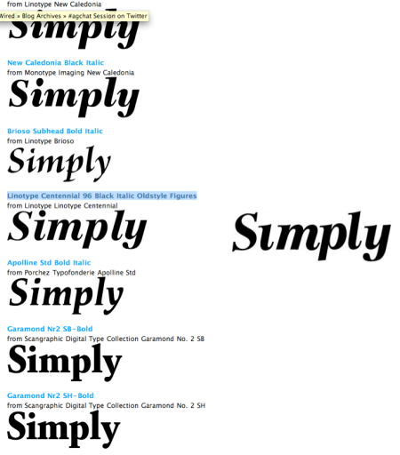 My Font.com Match to Missing Font